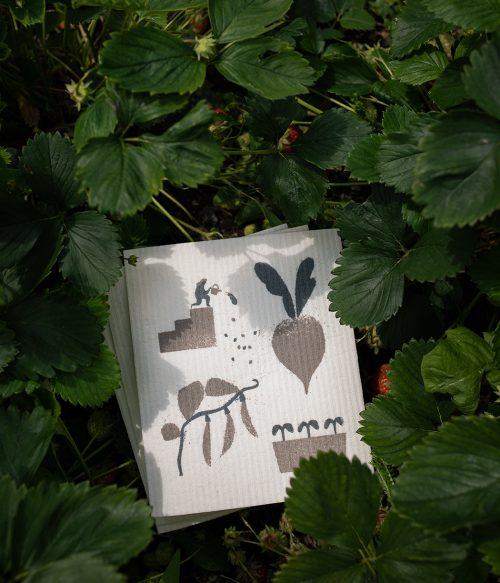 Kompostovateľné hubky Záhrada