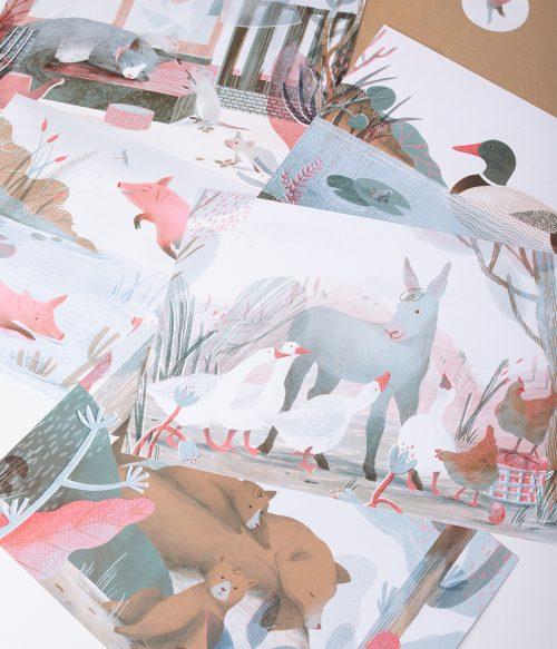Set obrázkov Zvieratká